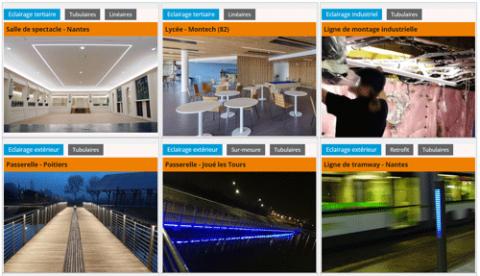 Réalisation - projets d'éclairage avec les produits ACTiLED