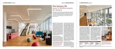 Preview Article LUX : Des lustres 3D pour le Médiacampus de Nantes